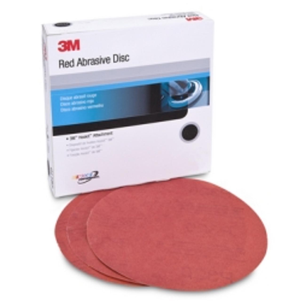 """3M 6/"""" Hookit Abrasive Discs Red"""