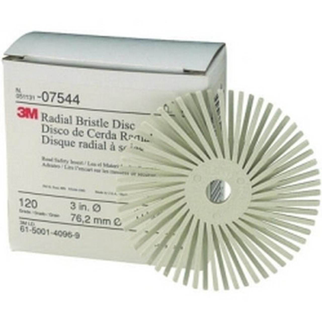 """3M 07529 3/"""" White Bristle Disc Coarse"""