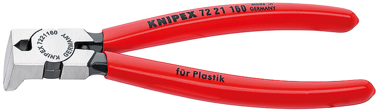Knipex 7201180 Diagonal Cutter For Plastics Plastic Coated 7 1//4 In