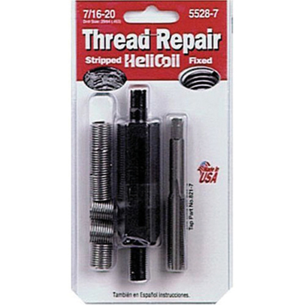Helicoil 5528-7 Thread Repair Kit, 7/16