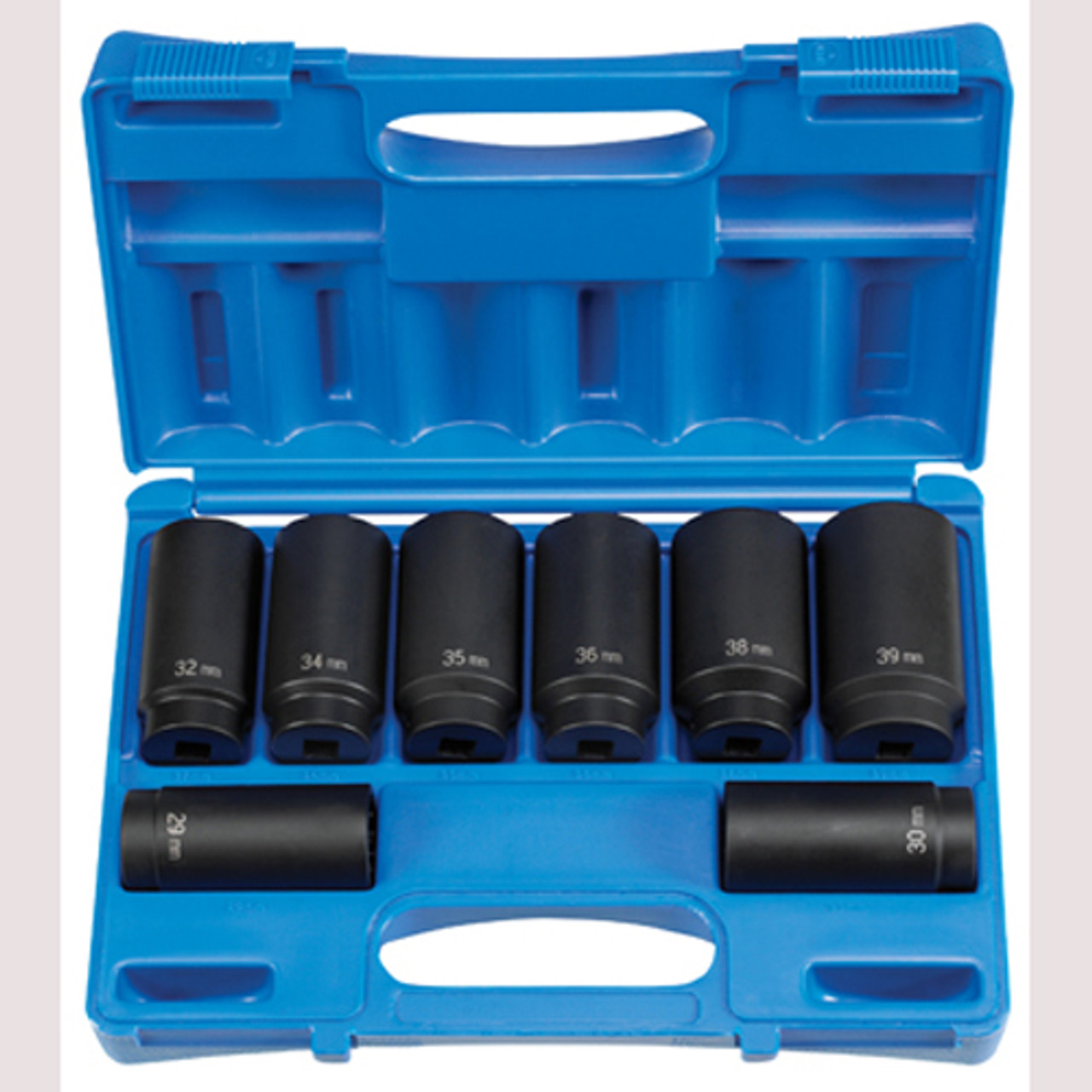 1708SN 1//2 Drive 8-Piece 12-Point Spindle//Axle Nut Socket Set Grey Pneumatic