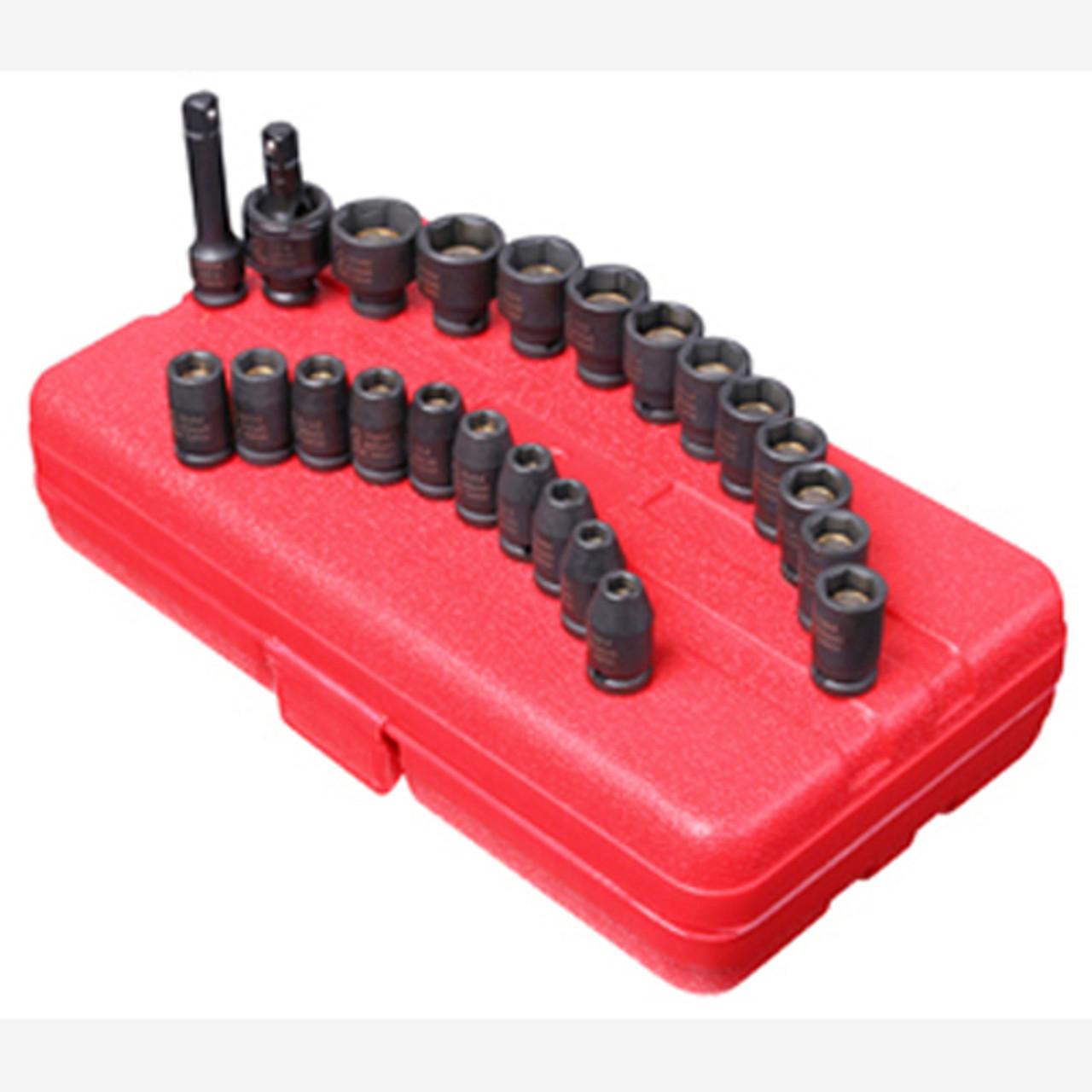 "Metric Universal Impact Socket Set 12 Pc Sunex 1814 1//4/"" Dr"