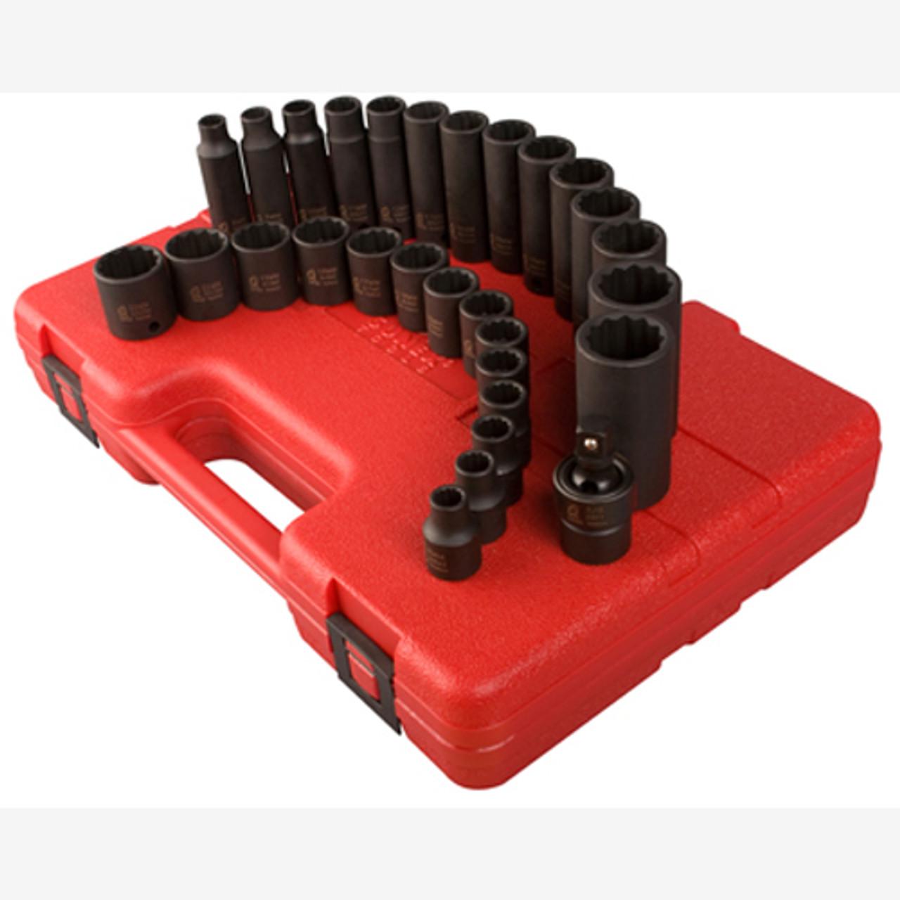 Sunex Tools 2699 1//2 Drive 12 Point Metric Master Impact Socket
