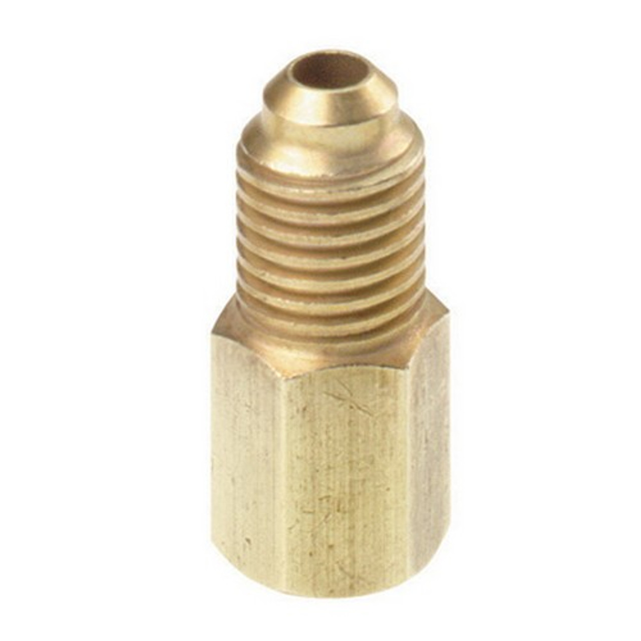 """R134A Brass Adapter 1//4/"""" Male to 1//2/"""" ACME Female Charging Hose to Vacuum Pump k"""
