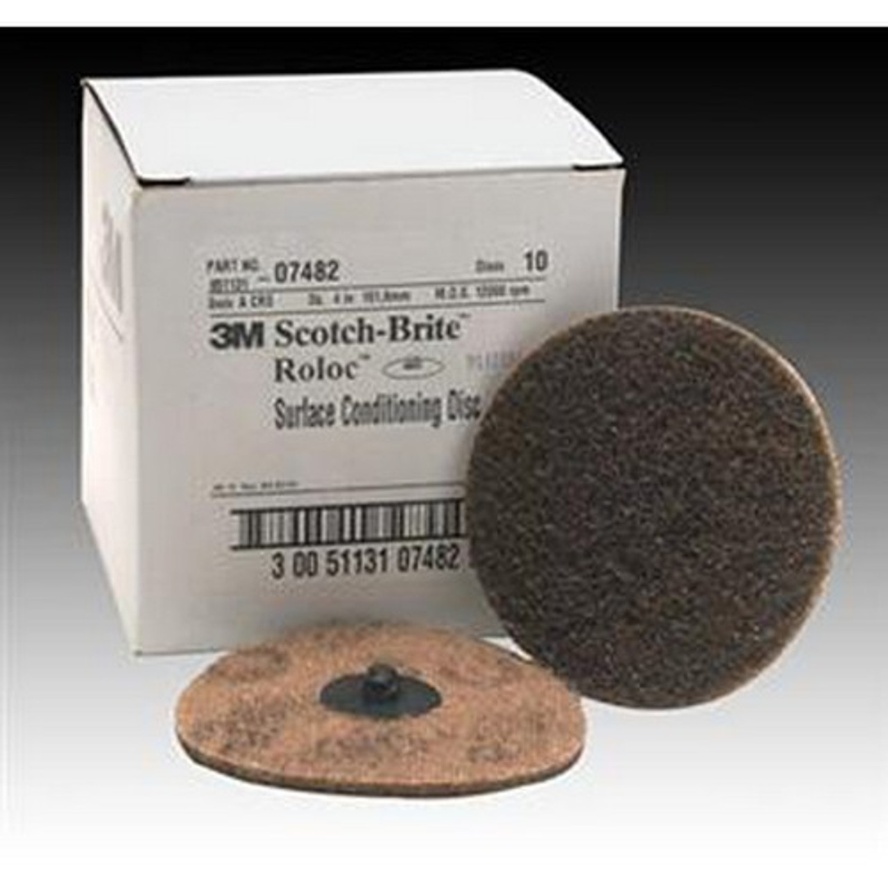 25 Discs 3M 07485 3-Inch Roloc Coarse Surface Conditioning Disc MAX RPM 18,000