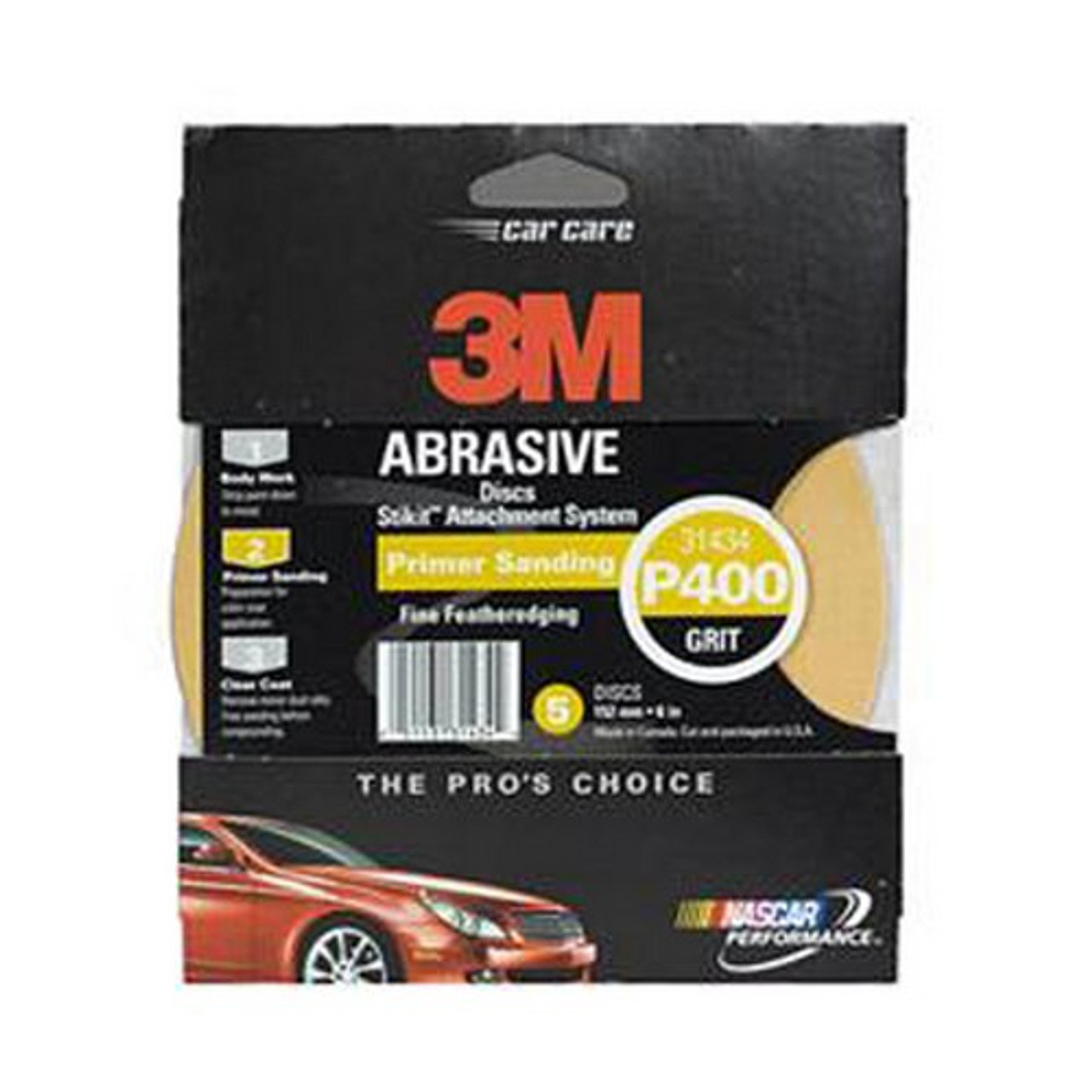 """3M 31434 Stikit 6/"""" Gold Disc P400A 5 pack"""
