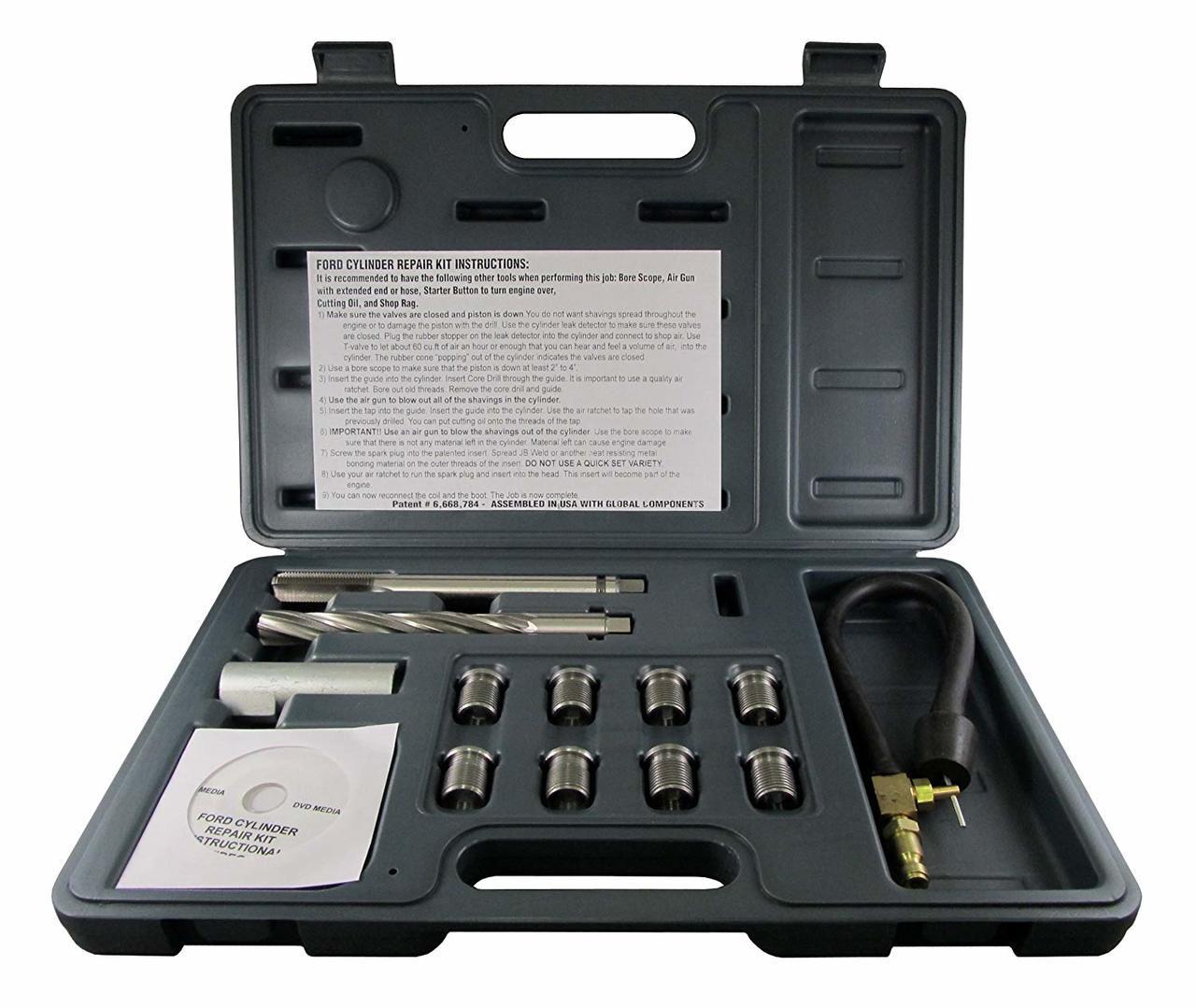 Cal Van Tools 38900 Two Valve Ford Triton Spark Plug Thread Repair Kit