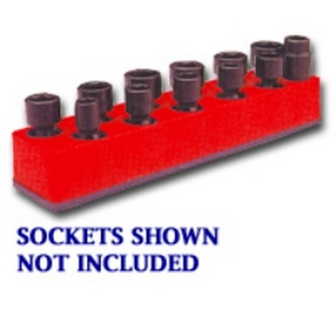 Mechanics Time Saver 887 3//8 in Dr Univ Rocket Red 8 Hole Impact Socket Holder