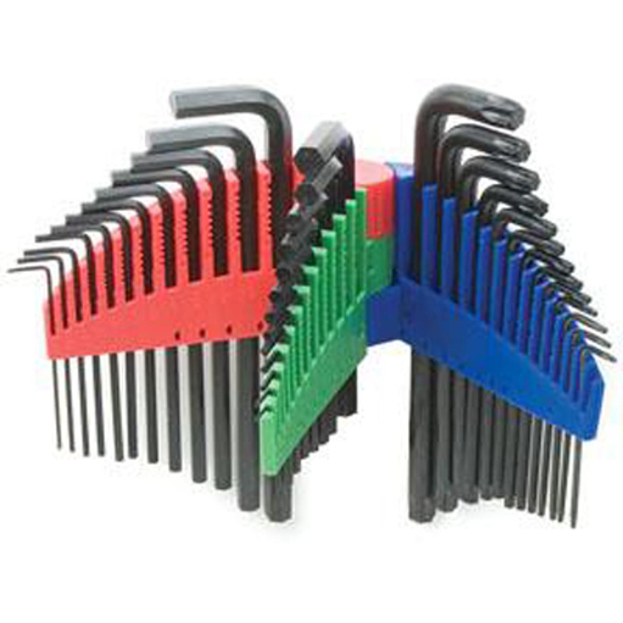 "Titan Tools 12712 25pc Hex Key Wrench Set 1//16/"" to 3//8/"""