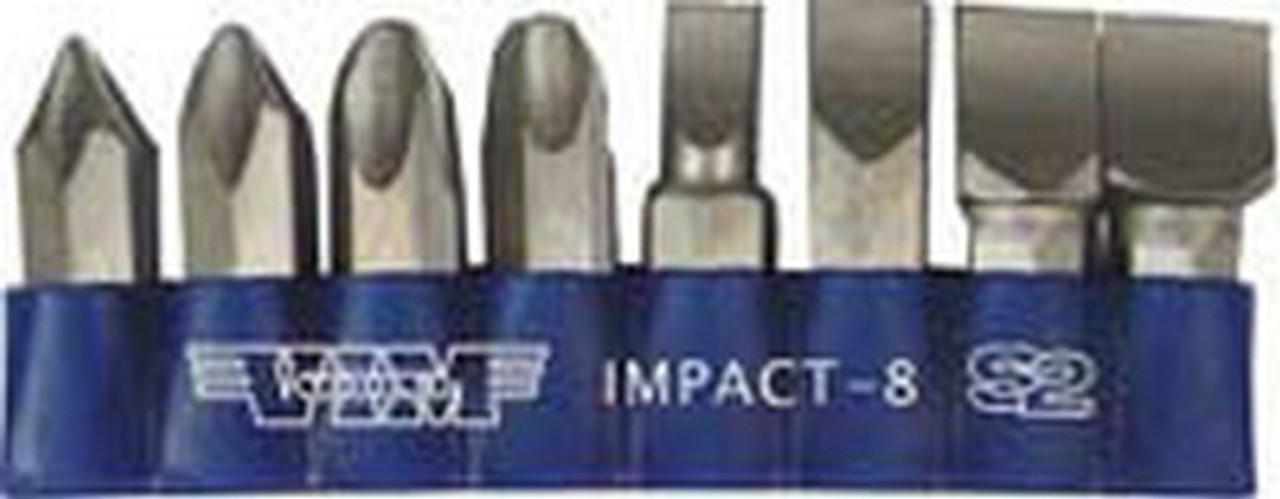 VIM Tools IMPACT-8 8 Piece Impact Driver Quality S2 Bit Set