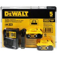 Deals on Dewalt DCB205-2CK Max 5.0AH Starter Kit w/2 Batteries & Bag