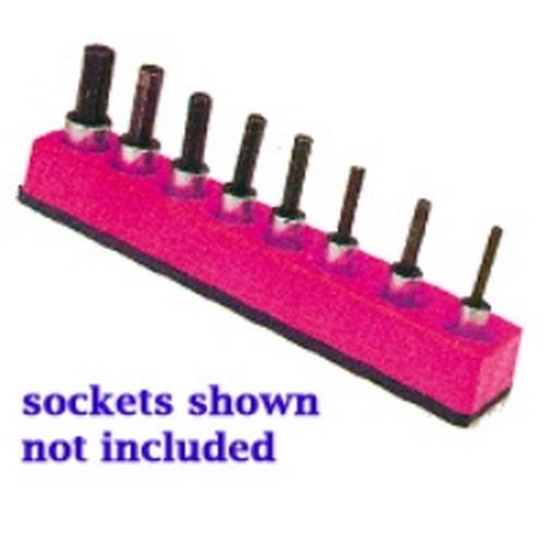 Mechanics Time Saver 722 1//4 in Drive Magnetic Hot Pink Socket Holder  4-14mm