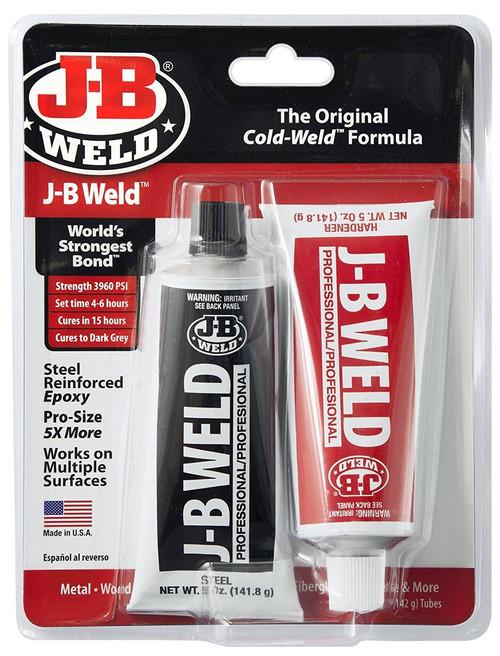 JB Weld 8281 Steel Reinforced Epoxy Pro Size