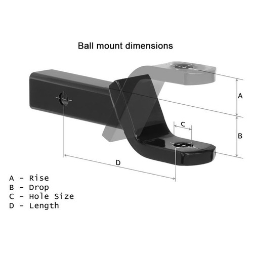 Ball Mount B/&W TS10037B Tow and Stow Magnum Receiver Hitch Double