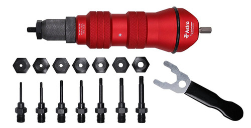 "3//8/"" Capacity Pneumatic Rivet Nut Setting Kit AST-PRN1 Brand New!"
