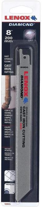 "Lenox 1766356 11/"" double tang diamond reciprocating saw blade cast iron cutting"