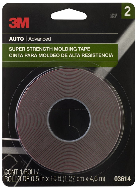 38583 3M™ Exterior Attachment Tape 1//4 in x 15 ft