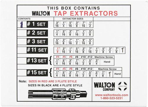 "Walton 18001 # 1 Set Of Tap Extractors 3//16/""-1//2/"""