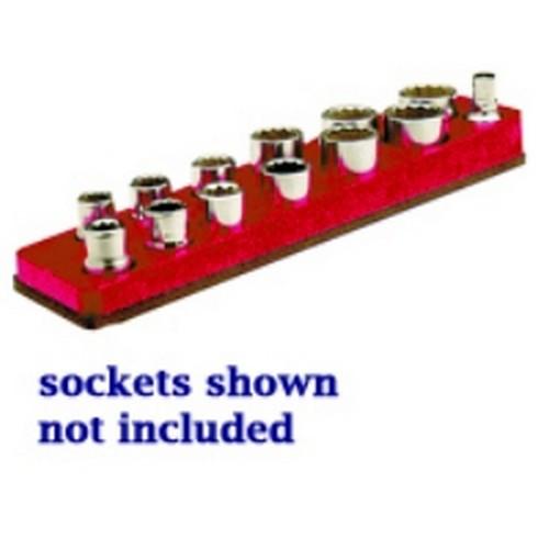 Mechanics Time Saver 381 3//8 in Dr Universal Magnetic Red Socket Holder 10-19mm