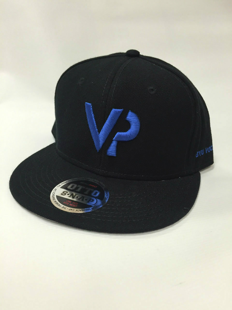 BYU Vocal Point Black  VP  Flat Bill Snapback Hat - BYU Music Store d80942f6217