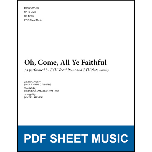 Oh, Come, All Ye Faithful (Arr  by James L  Stevens - SATB) [PDF Sheet  Music]