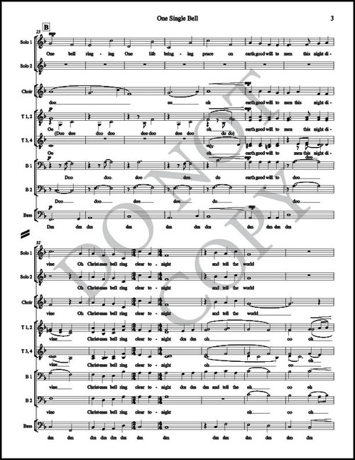 One Single Bell (Arr  by McKay Crockett - SATB) [PDF Sheet Music]