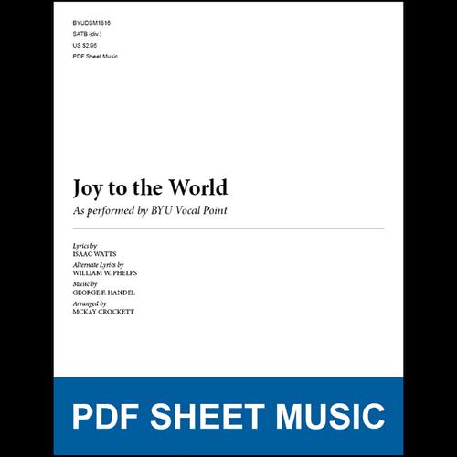 Joy To The World Arr By Mckay Crockett Satb Pdf Sheet Music
