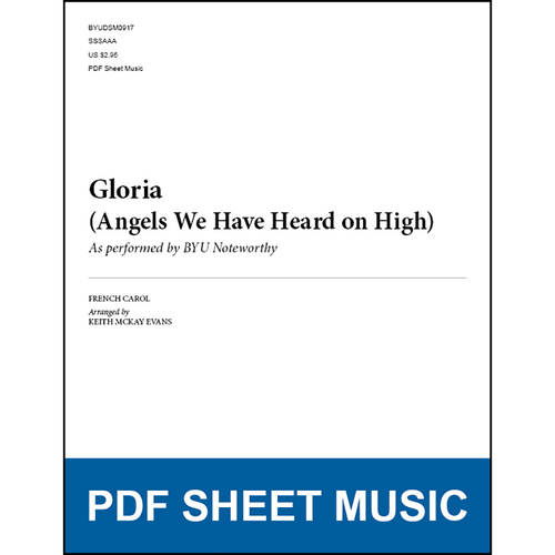 Gloria (Angels We Have Heard on High) (Arr  by Keith McKay Evans - SSAA)  [PDF Sheet Music]