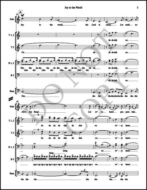 Joy to the World (Arr  by McKay Crockett - SATB) [Physical Sheet Music]