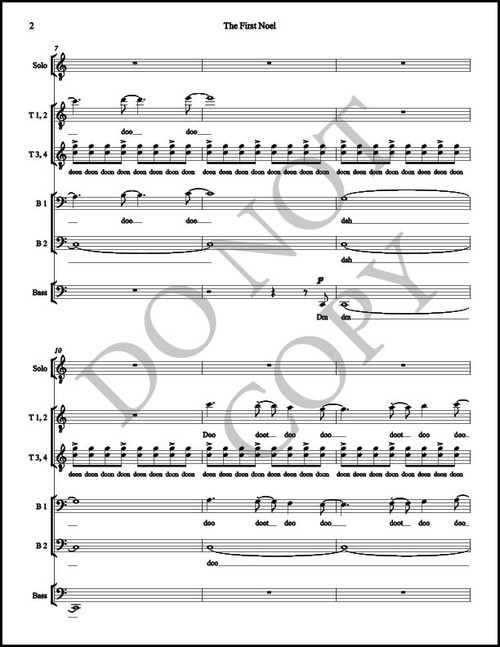 The First Noel (Arr. by McKay Crockett - TTBB) Physical Sheet Music - BYU Music Store