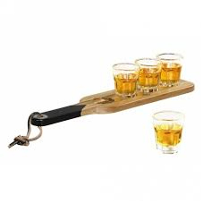 Shot Glasses Serving Paddle Gift
