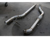 "Darkside 3"" Stainless DPF Delete / De-Cat Downpipe for Audi A6 2.7 / 3.0 TDI"