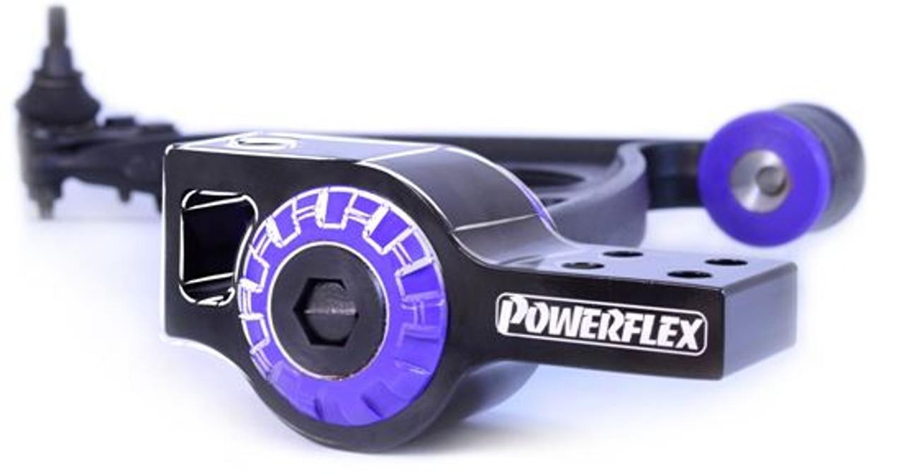 PFF85-502G-5 POWERFLEX ROAD Front Wishbone Rear Bushes Anti-Lift Caster Offset