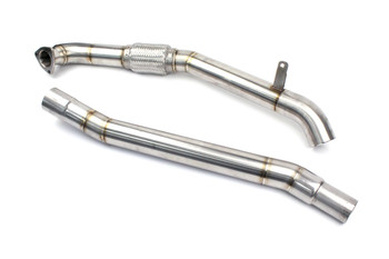"Darkside 2.5"" Stainless De-Cat Downpipe Audi A4 2.5 TDi V6"