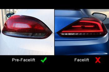 Genuine VW Scirocco R / R-Line Rear Lights - Tinted / Darkened