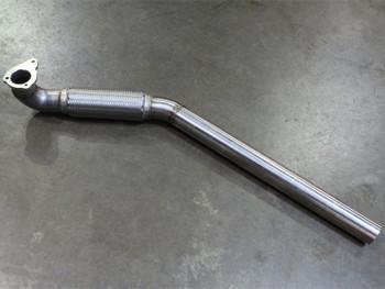 "Darkside 2.5"" Stainless De-Cat Downpipe for VNT 1.9 TDI Caddy Mk2, Mk2 & Mk3 Golf"