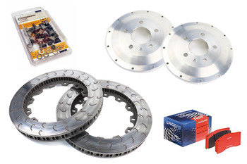 368mm Front BTCC Track / Race Brake Conversion Kit for B8 RS4 / RS5 Brake Calipers - Pagid RSL29 Pads