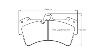 Pagid S2845 RSL 29 Front Brake Pads for Mk5 Platform when fitted with Porsche 6 Pot 18Z Calipers