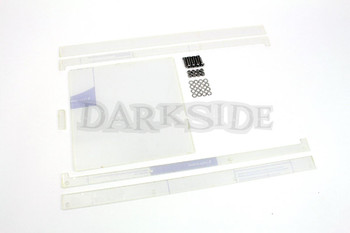 Large 4mm Clear Track Day Window Slider Kit