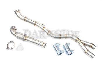 "Darkside 2.5"" Stainless De-Cat Downpipe for Audi A6 Allroad C5 2.5 TDI V6"