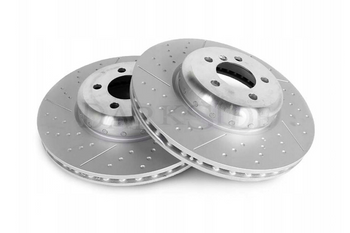 345mm x 24.8mm Drilled / Grooved Rear Brake Discs for F Series M Sport Calipers