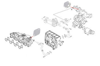 VW Transporter T5.1 EGR Blanking Kit for 2.0 TDI (Excluding CFCA)