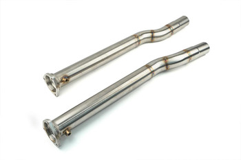 "Darkside 2.5"" Stainless DPF Delete Downpipes for Audi A8 4.2 TDI"