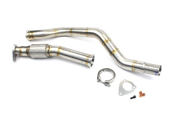 "Darkside 2.5"" Stainless De-Cat Downpipe Audi A4 B6 / VW Passat B5 1.9 TDi"