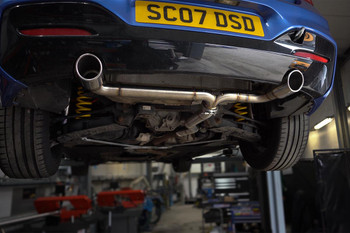 """Darkside 2.5"""" Stainless Rear Section Exhaust System for BMW 125d"""