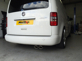 VW Caddy 2K - MK3 / MK4 Milltek Cat-Back Exhaust System 2WD Manual and DSG (not Maxi / AdBlue models)