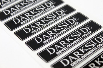 Darkside Developments Black / Silver Foil Stickers
