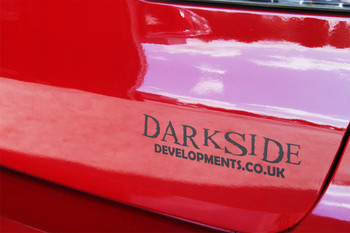 Darkside Developments Simple Matte Black Stickers
