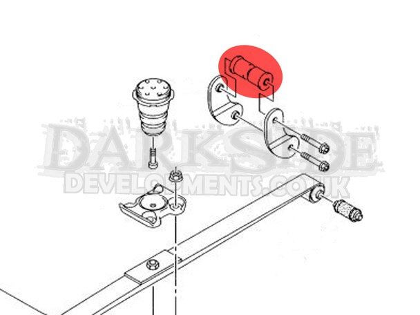 Rear Leaf Spring Chassis Shackle Bush - 2 x PFR85-1510