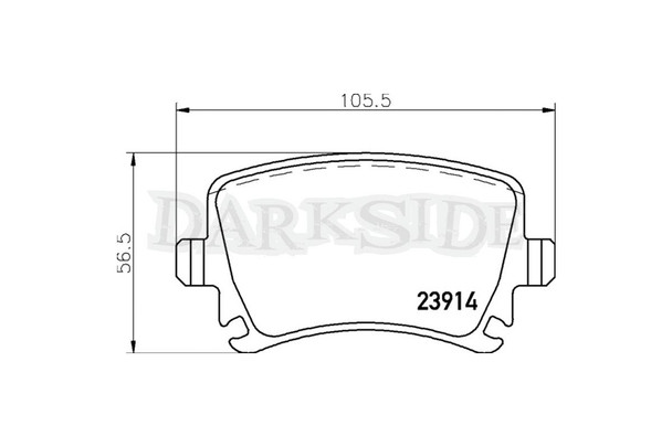 Brembo Sport HP2000 Rear Brake Pads Mk5 / Mk6 Golf Platform Vehicles - 256mm / 282mm Unvented